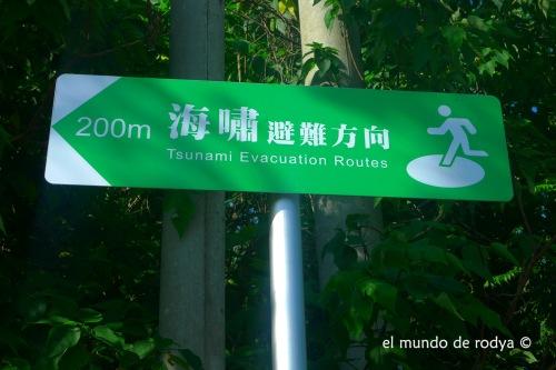 ruta evacuación tsunami taiwan