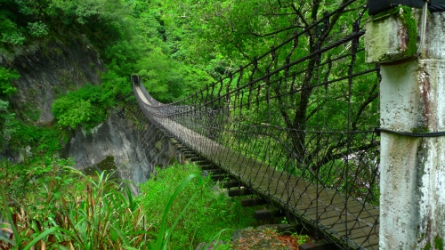 Lushui Heliu Trail tianxiang taroko hualien taiwan national park Holiu suspension bridge