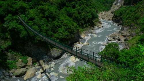 Taroko national park hualien taiwan suspension bridge Swallow Grotto taroko gorge