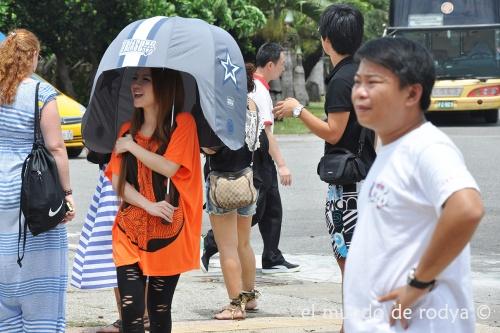 paraguas unipersonal