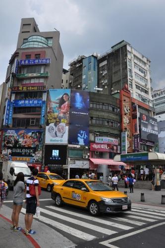 taipei traffic streets, taiwan