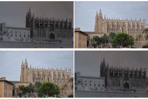 façana la seu _ collage DSC_0646 (2013) vs DSC_0426_ (truyol)